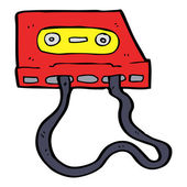 Cartoon cassette tape — Stock Vector