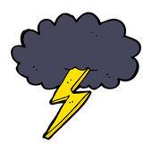 Cartoon lightning bolt and cloud — Stock Vector