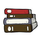 Cartoon old books — Stock Vector