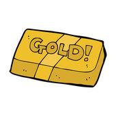 Kreskówka bar złota — Wektor stockowy