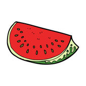 Cartoon watermelon slice — Stock Vector