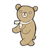 Cute cartoon teddy bear — Vector de stock