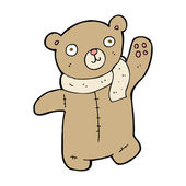 Cute cartoon teddy bear — Stock vektor