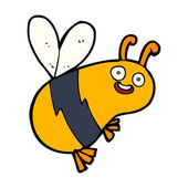 Funny cartoon bee — Stock Vector