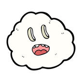 Cartoon spooky cloud — Vector de stock