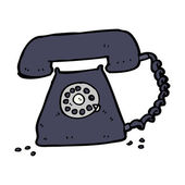 Cartoon retro telephone — Vector de stock
