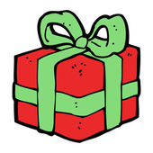 Cartoon kerstcadeau — Stockvector