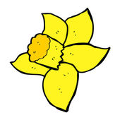 Cartoon daffodil — Vecteur