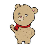 Cartoon teddy bear — Vector de stock