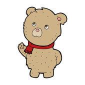 Ours en peluche dessin animé — Vecteur