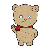 Cartoon zwaaien teddy bear — Stockvector
