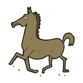Cartoon horse — Vector de stock