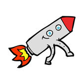 Cartoon happy rocket — Vettoriale Stock