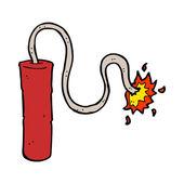 Cartoon dynamite burning — Stock Vector