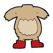 Cartoon teddy bear body — Stockvektor