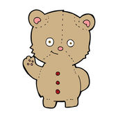 Cartoon teddy bear waving — Stockvector