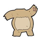 Cartoon teddy bear body — Stock Vector