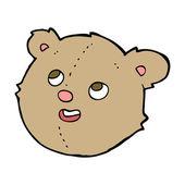 Cartoon teddy bear head — Stock Vector
