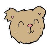 Cartoon happy teddy bear face — Stock Vector