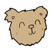 Cartoon happy teddy bear face — Stockvektor