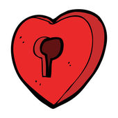Cartoon heart with keyhole — Stockvector