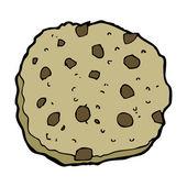 Chocolate chip cookie cartoon — Stock Vector