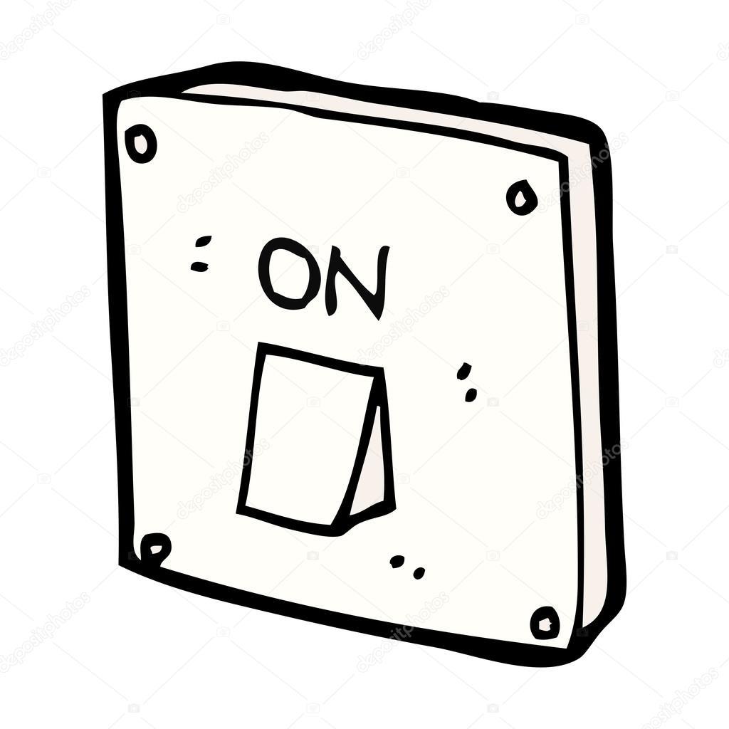 interruptor de luz de desenho animado  u2014 vetor de stock