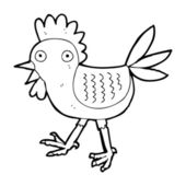 Funny cartoon chicken — Vettoriale Stock