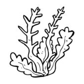 Cartoon seaweed — Vettoriale Stock