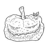 Cartoon halloween pumpkin — Stock Vector