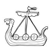 Cartoon viking ship — Wektor stockowy