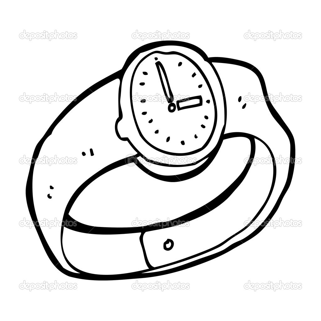 wrist watch coloring pages - photo#13