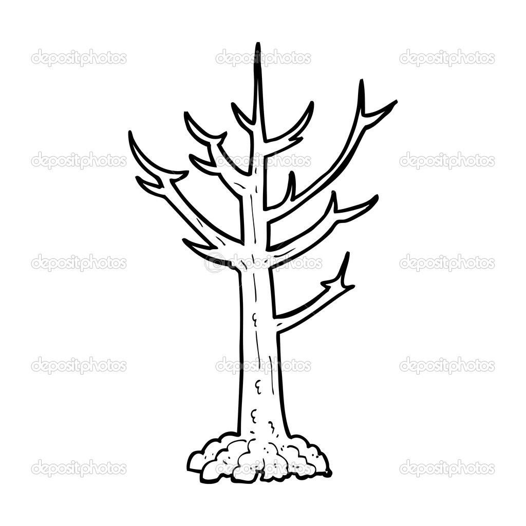 Arbre nu dessin anim image vectorielle 38428333 - Dessin arbre nu ...