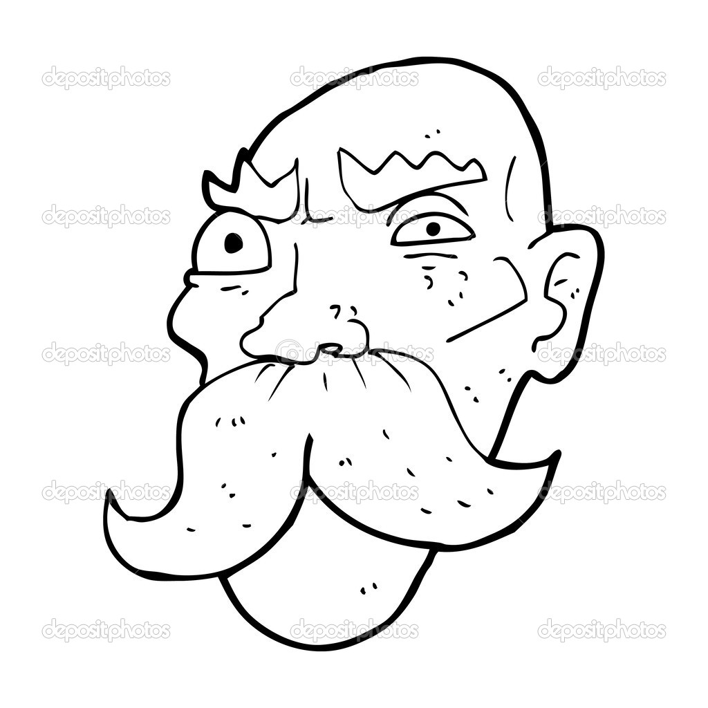 Angry Old Man Drawing Cartoon angry old man   Vector