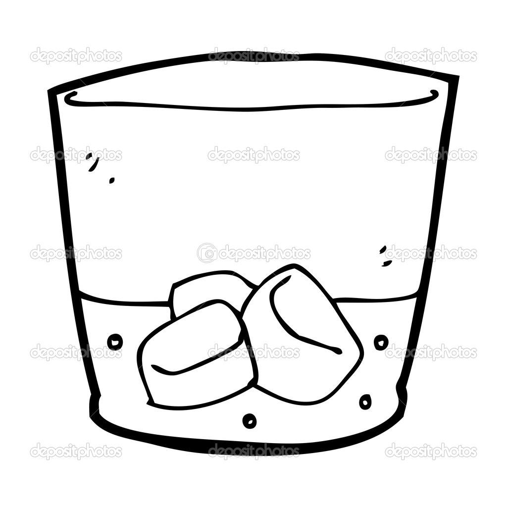Dessin anim de whisky dans le verre image vectorielle - Dessin de verre ...