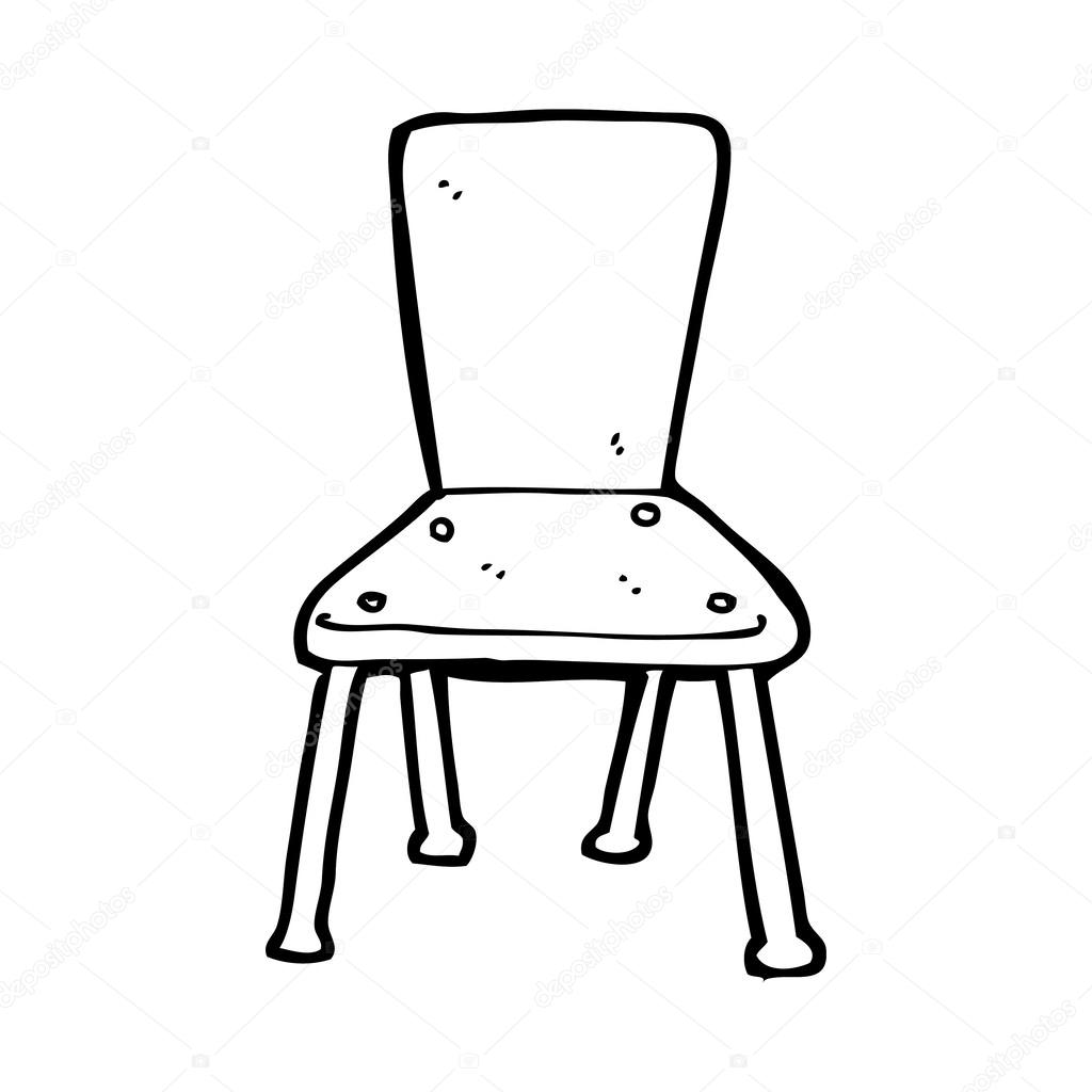 Black and white chair drawing - Stock Illustration Cartoon Old School Chair Jpg 1024x1024 Cartoon Chair Drawing