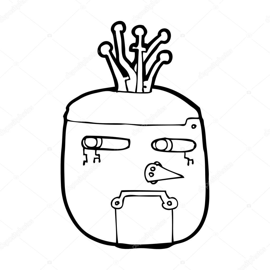 卡通机器人头
