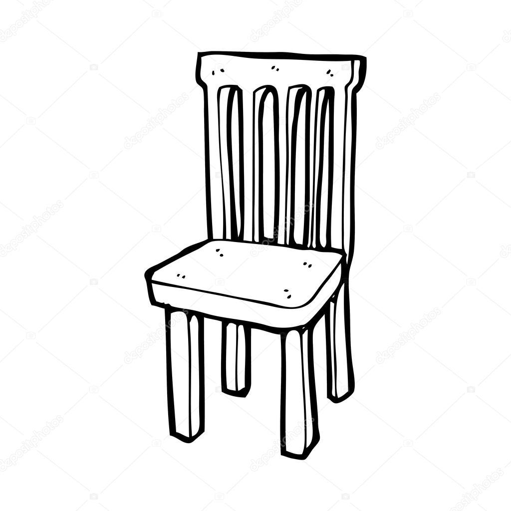 Chaise en bois dessin anim image vectorielle for Chaise dessin