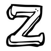Cartoon letter Z — Stock Vector
