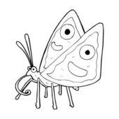 śmieszne kreskówka motyl — Wektor stockowy