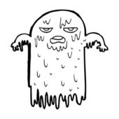 Cartoon slemmiga ghost — Stockvektor