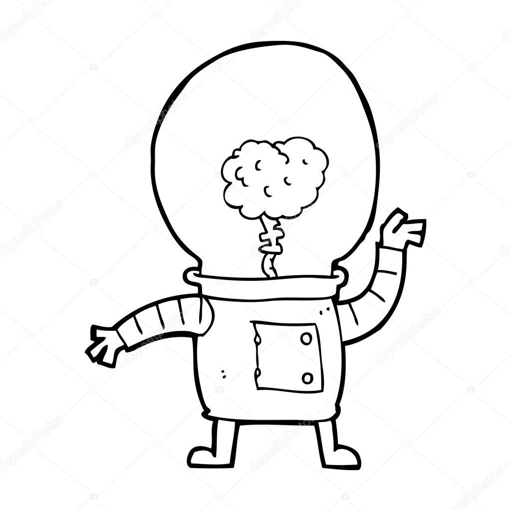 Cartone animato robot cyborg — vettoriali stock
