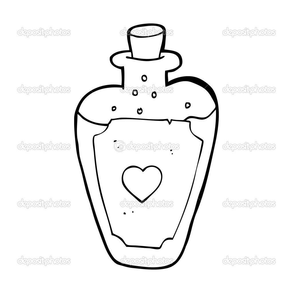 Philtre d 39 amour de dessin anim image vectorielle - Dessin d amour ...