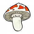 Stock Vector: Cartoon toadstool
