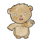 Cartoon worried teddy bear — Stockvektor