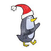 Cartoon kerstmis pinguïn — Stockvector