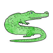 Cartoon crocodile — Stockvektor
