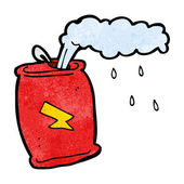 Cartoon fizzing soda can — Stock Vector
