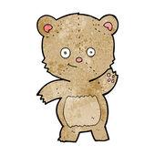 Cartone animato sventolando teddy bear — Vettoriale Stock