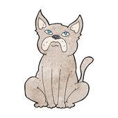 Cartoon grumpy little dog — Stockvector